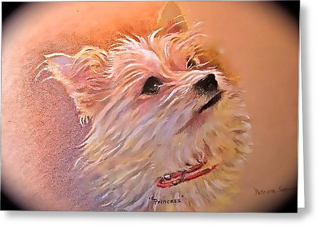 Greeting Card featuring the painting Little Princess by Patricia Schneider Mitchell