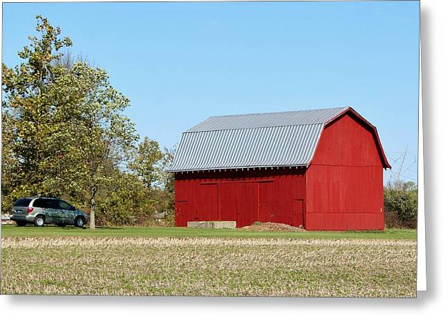 Little Red Barn Greeting Card by Nelson Skinner