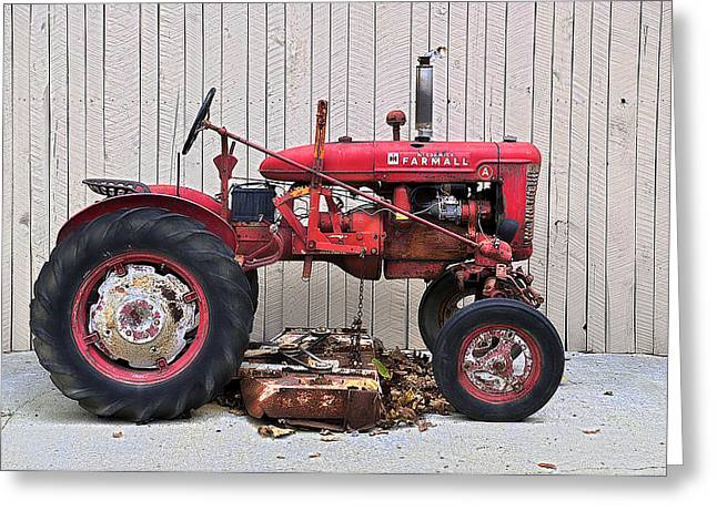 Greeting Card featuring the photograph Little Red Farmall by Craig T Burgwardt