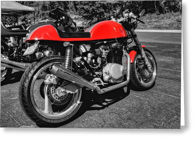 Little Red Racer 001 Greeting Card by Lance Vaughn