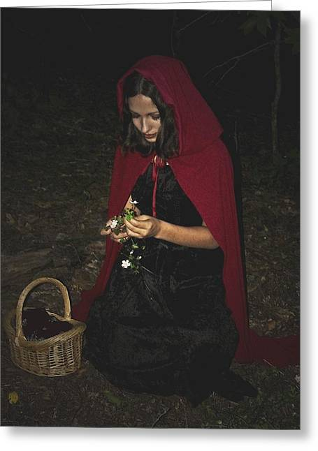 Little Red Riding Hood Greeting Card by Cherie Haines