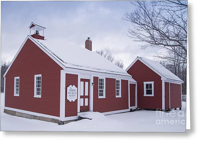 Little Red School House Greeting Card by Alana Ranney