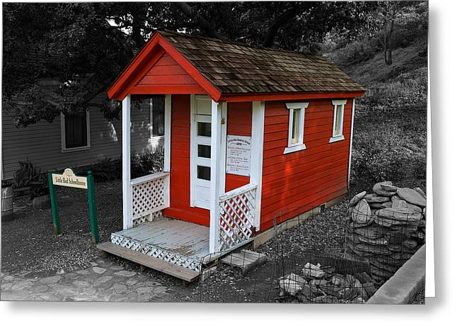 Little Red School House Greeting Card by Richard J Cassato