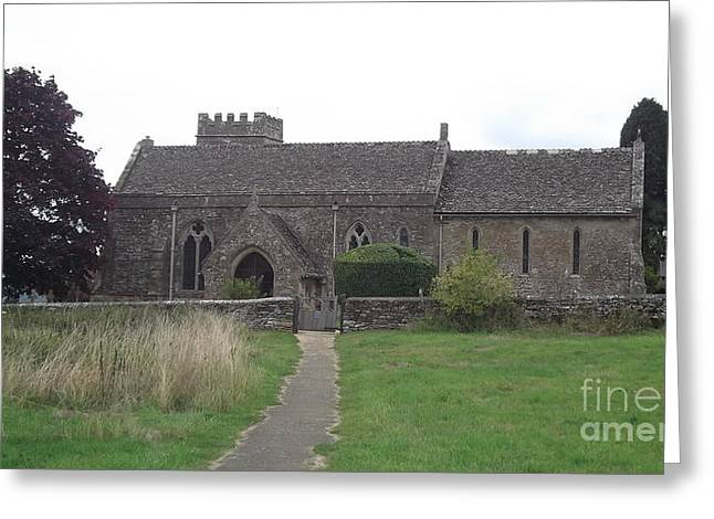 Little Rissington Church Greeting Card by John Williams