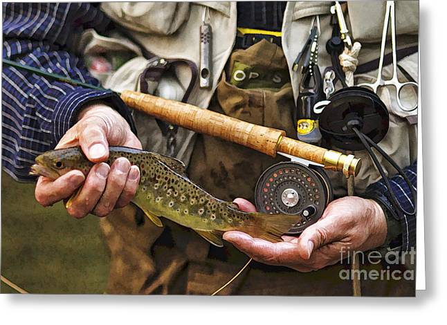 Little River Brown - D001102-a Greeting Card by Daniel Dempster