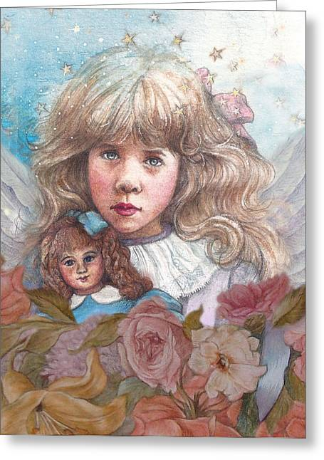 Little Rose Angel Greeting Card