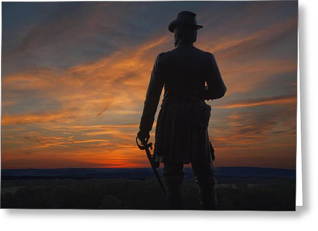 Little Roundtop Sunset Greeting Card by Wayne Letsch