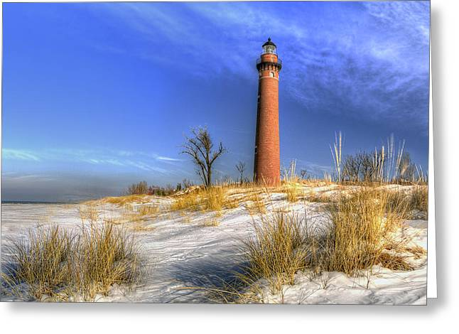 Little Sable In Winter Greeting Card by Twenty Two North Photography