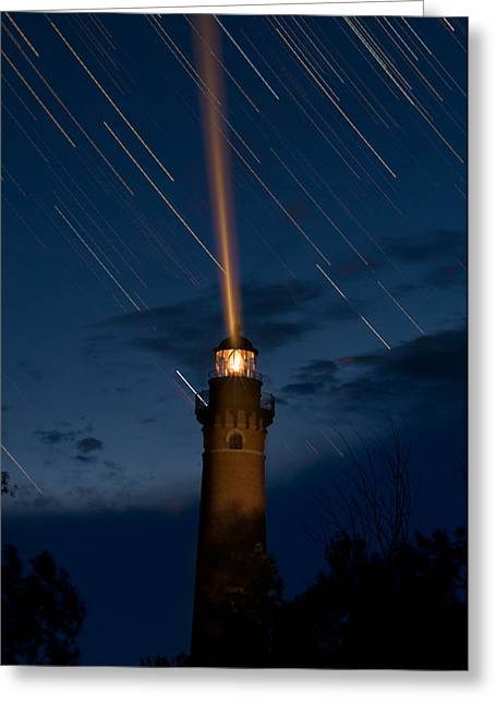 Little Sable Lighthouse Greeting Card by Steve Gadomski