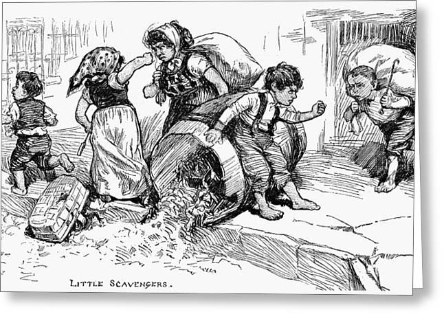 Little Scavengers, 1881 Greeting Card by Granger