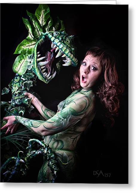 Little Shop Of Horrors Greeting Card by David April