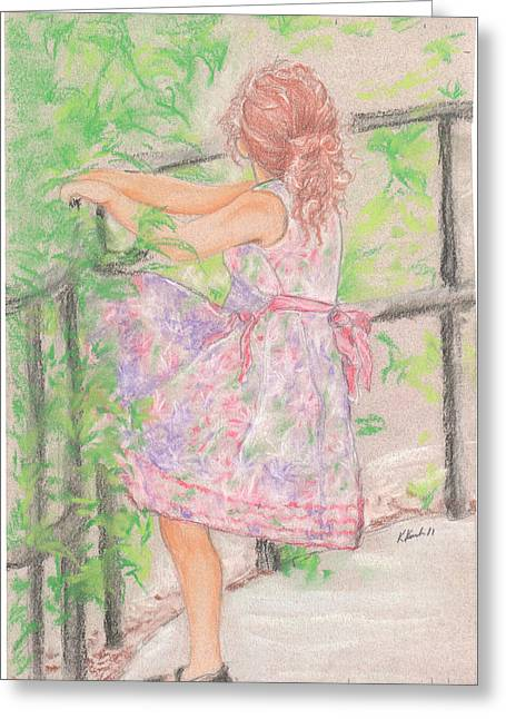 Little Sister Greeting Card by Kathy Keith