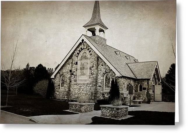 Little Stone Church Greeting Card by Scott Hovind