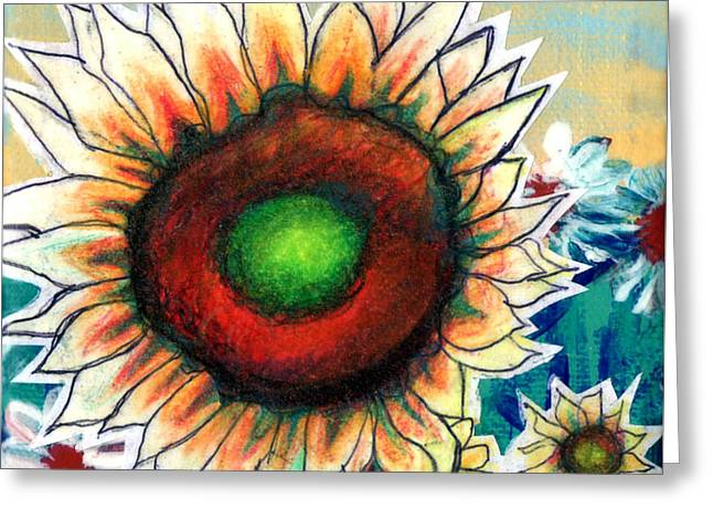 Little Sunflower Greeting Card by Genevieve Esson