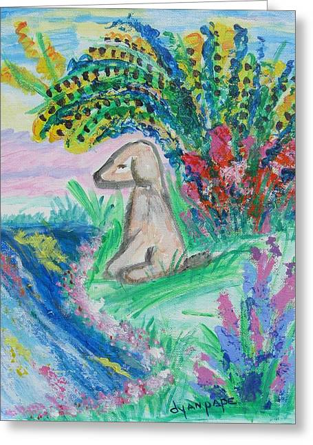 Greeting Card featuring the painting Little Sweet Pea by Diane Pape