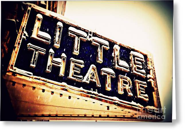 Little Theatre Retro Greeting Card by James Aiken