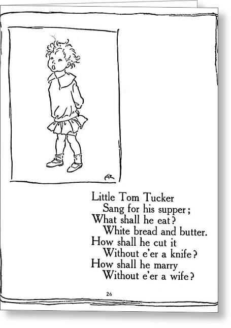 Little Tom Tucker, 1913 Greeting Card