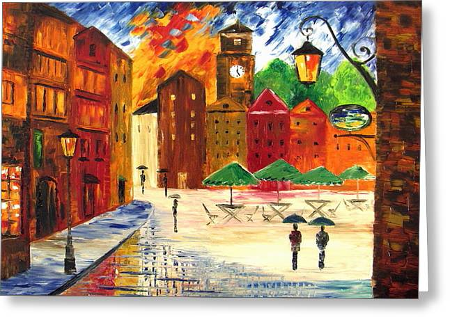 Little Town Greeting Card