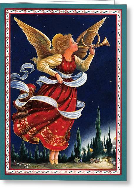 Little Town Of Bethlehem Greeting Card