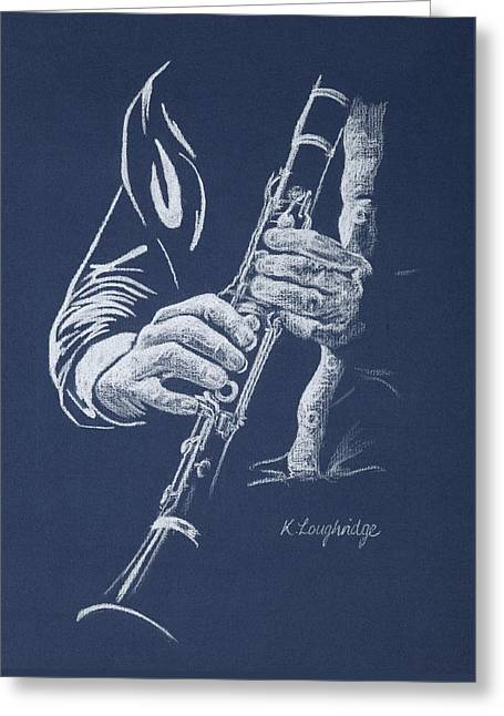 Little Trumpet Clarinet Greeting Card