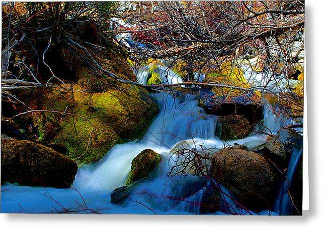Little Water Fall Greeting Card by Kevin Bone