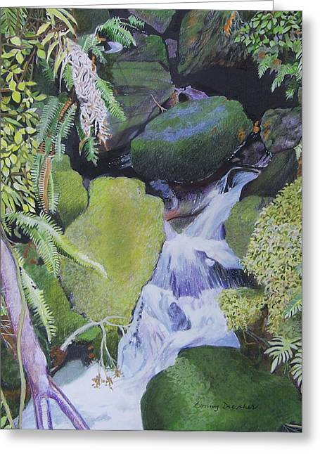 Small Waterfall Greeting Card by Constance DRESCHER