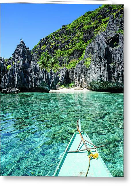 Little White Beach And Crystal Clear Greeting Card by Michael Runkel