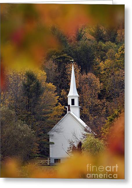 Little White Church - D007297 Greeting Card