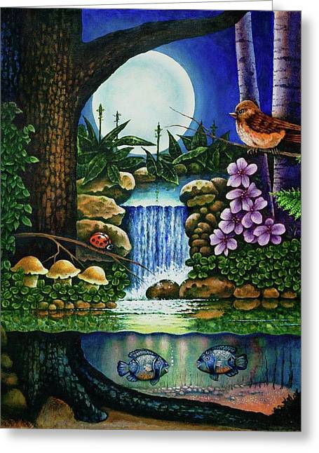 Little World Chapter Full Moon Greeting Card
