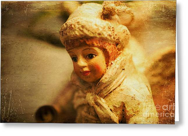 Littlest Angel Greeting Card by Terry Rowe