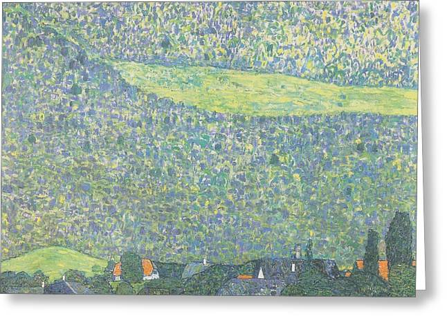 Litzlberg On The Attersee Greeting Card by Gustav Klimt