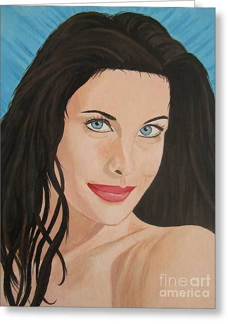 Liv Tyler Painting Portrait Greeting Card by Jeepee Aero