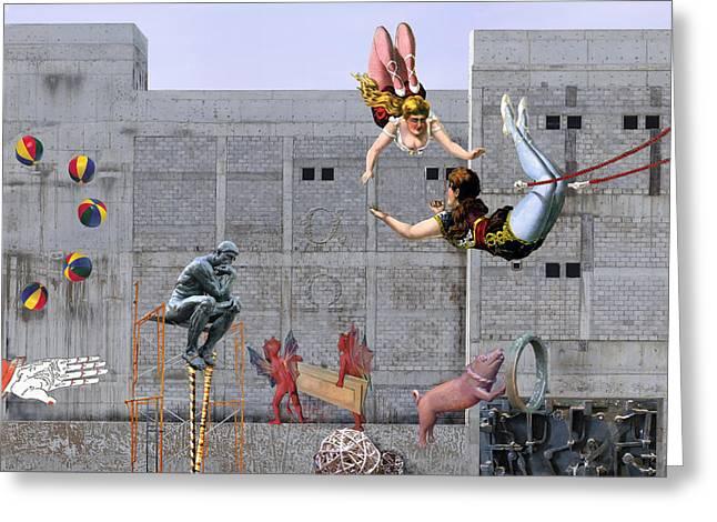 Live Circus At Heaven's Door Greeting Card by Maria Jesus Hernandez