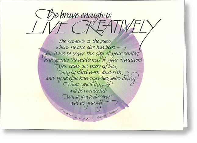 Live Creatively Greeting Card