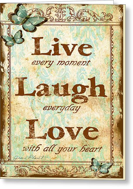 Live-laugh-love Greeting Card
