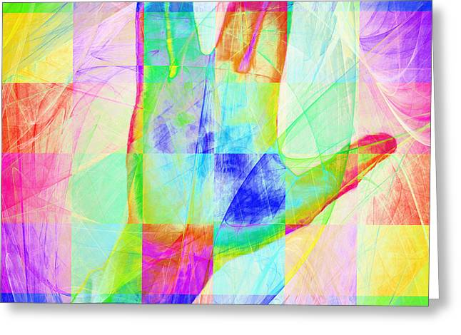 Live Long And Prosper 20150302v1 Color Squares Sq Greeting Card by Wingsdomain Art and Photography