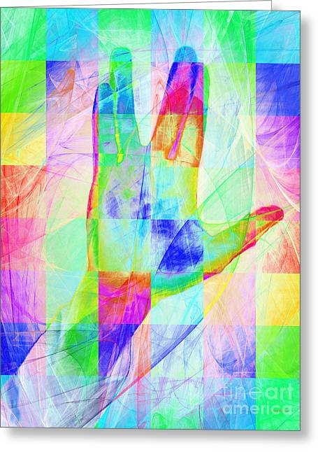 Live Long And Prosper 20150302v1 Color Squares Greeting Card by Wingsdomain Art and Photography