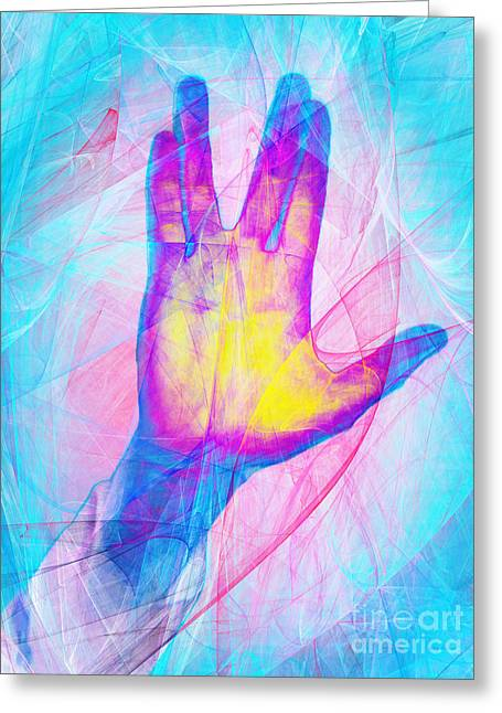 Live Long And Prosper 20150302v1 Greeting Card