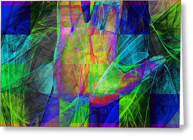 Live Long And Prosper 20150302v2 Color Squares Sq Greeting Card by Wingsdomain Art and Photography