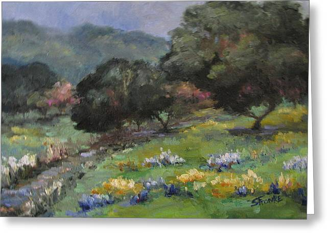 Live Oaks And Wildflowers Greeting Card