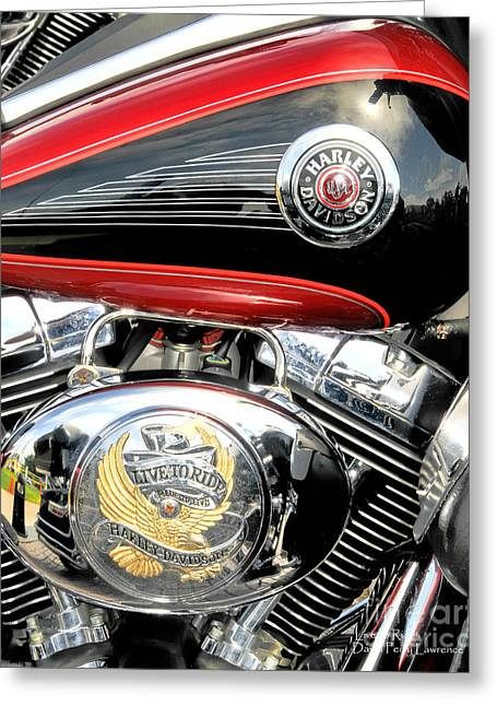 Live To Ride  Ride To Live By David Lawrence Greeting Card