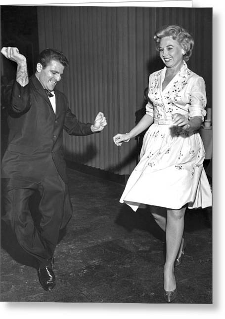 Lively Dance Couple Greeting Card by Underwood Archives