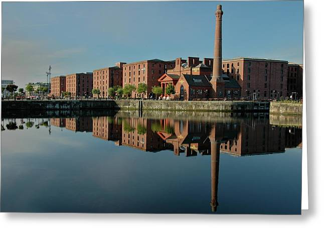 Greeting Card featuring the photograph Liverpool Canning Docks by Jonah  Anderson