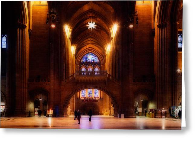 Liverpool Cathedral, Church Of England Greeting Card by Panoramic Images