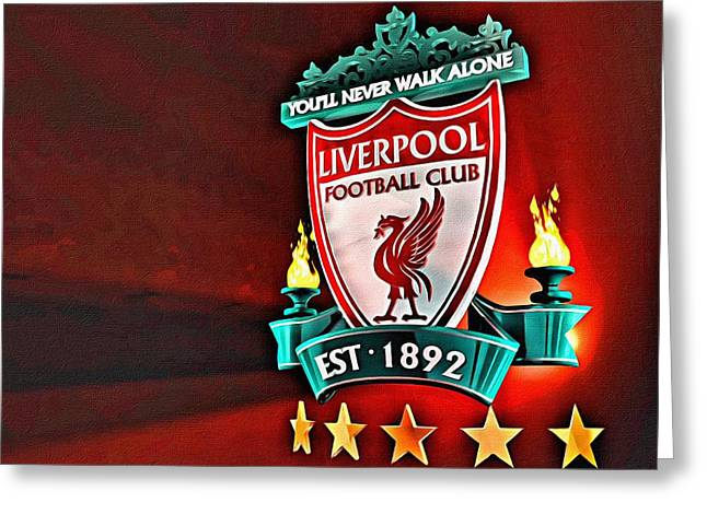 Liverpool Football Club Poster Greeting Card by Florian Rodarte