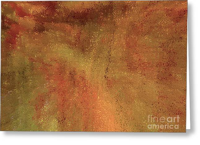 Living In A Copper World Greeting Card by Ann Johndro-Collins