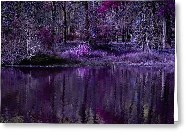 Living In A Purple Dream Greeting Card