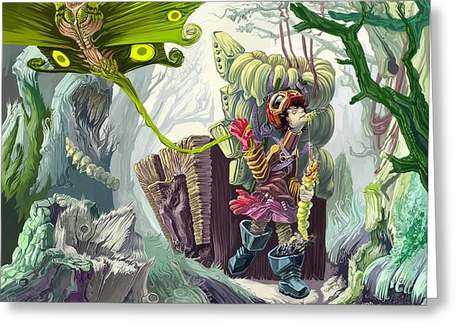 Living In A Swamp Greeting Card by Augustinas Raginskis