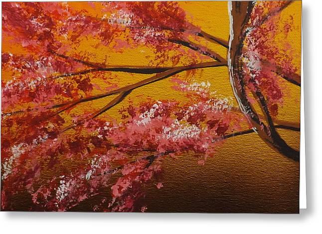 Living Loving Tree Bottom Left Greeting Card by Darren Robinson