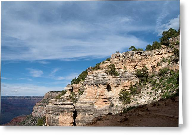 Living On The Ledge Greeting Card by Nickaleen Neff